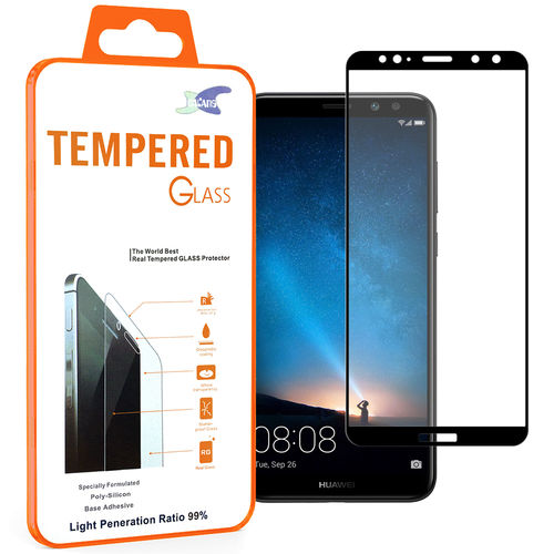 Full Tempered Glass Screen Protector for Huawei Nova 2i - Black Frame